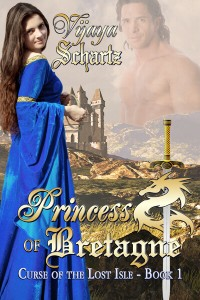 Medieval romance novel cover for Princess of Bretagne by Vijaya Schartz
