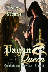 Medieval Romance Novel Cover for Pagan Queen by Vijaya Schartz